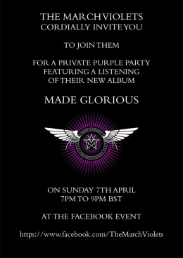 The march violets sisterswiki the sisters of mercy fan wiki made glorious listening party invitation stopboris Image collections