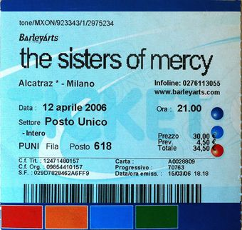 Wed, 12-Apr-2006 - SistersWiki org - The Sisters Of Mercy Fan Wiki